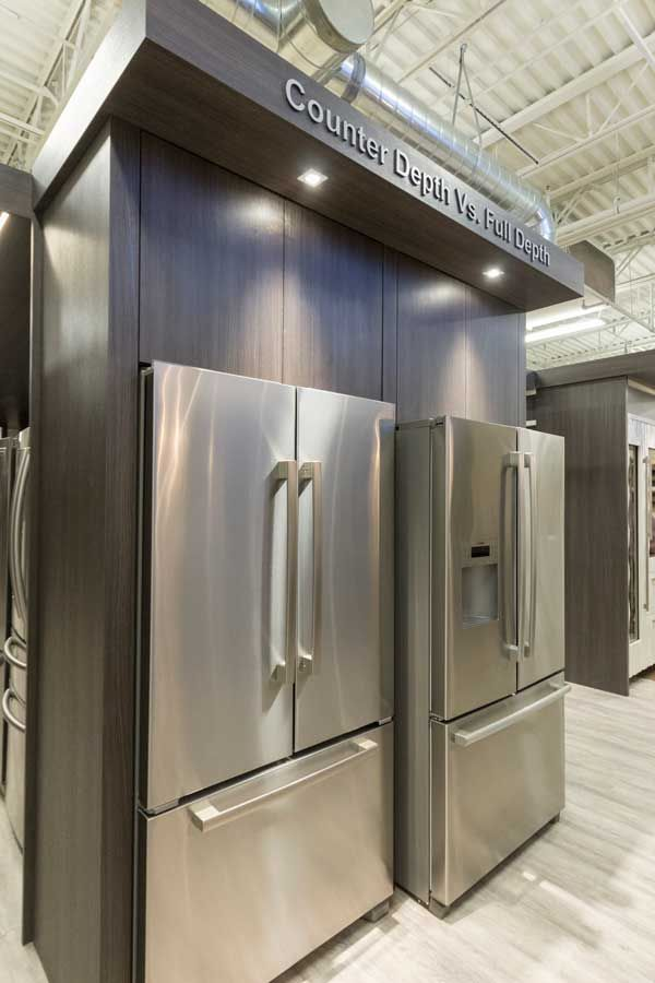 Looking for the best counter depth refrigerator? Viking D3, JennAir and KitchenAid all offer counter depth refrigerators, but...