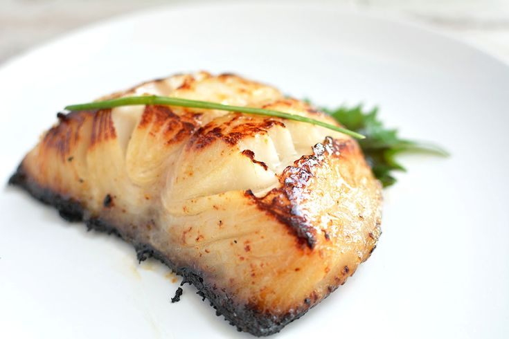 Nobu's miso black cod - this fish was marinated for 2-3 days in a miso sauce before it was seared over a hot pan for that golden crispy crust finish. Recipe on the blog.