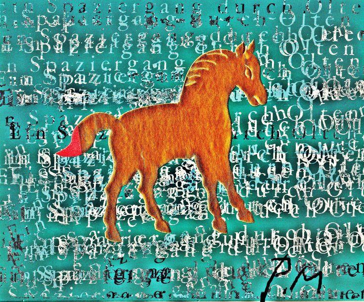 Pedro Meier – »A golden horse in the painting – No. V« – Mix Media artwork – 2017  https://www.instagram.com/pedro.meier/ http://www.pedro-meier-artist.ch/  Pedro Meier – Swiss-German Multimedia Artist