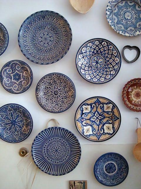 Moroccan ceramic plates