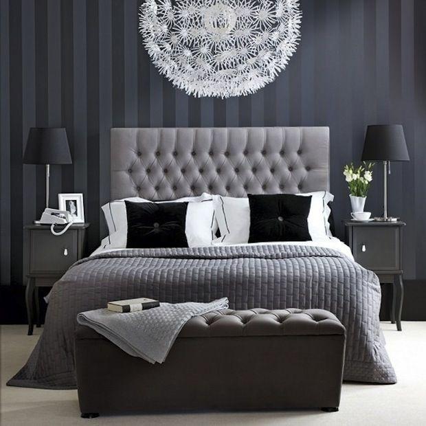 Темно-серая спальня