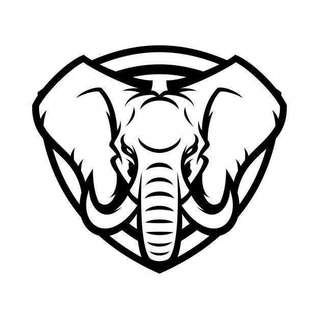 Elephant Animal Sport Mascot Head Logo Vector Vector Logo Elephant Logo Elephant