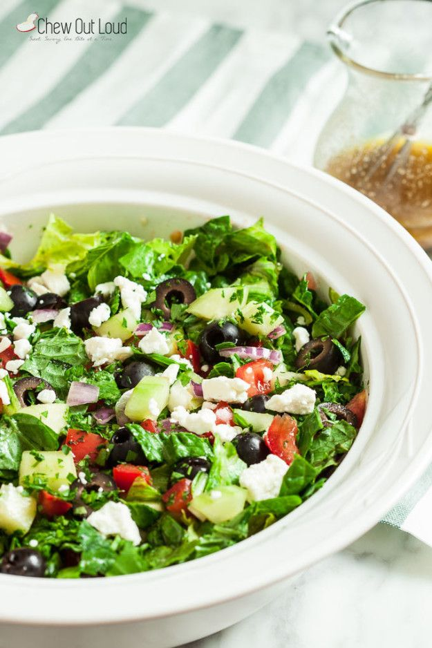 Easy Chopped Greek Salad | 23 Easy Healthy Recipes That Will Actually Make You Love Salad