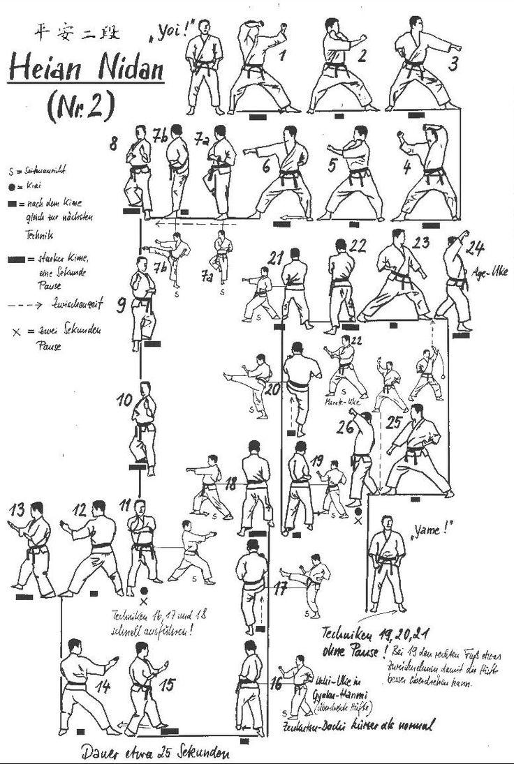 Heian Nidan Second Yellow Belt Shotokan Kata