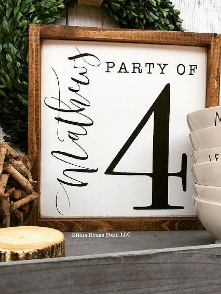 Adorable Farmhouse family number sign. This would be great in my gallery wall! #ad