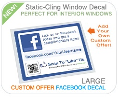 custom offer window cling marketing materials for fan pages facebook variation enter your