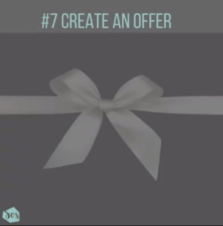 Create an Offer and use the offers tab