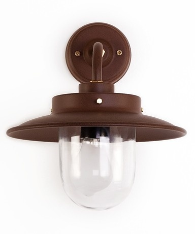 Burford Belfast Outdoor Wall Lamp in Cocoa -  see the new 'Rust' coloured lamps for inside or out