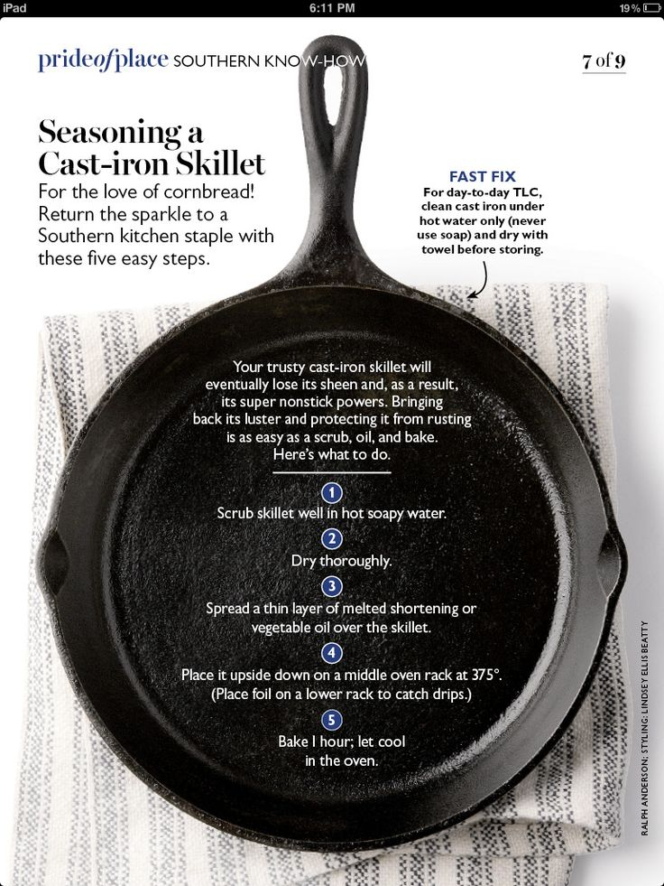 Cast iron seasoning
