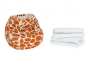 Giraffe Print Real Cloth Nappy by Baba+boo