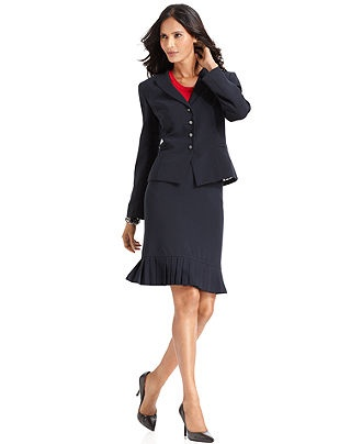 Tahari by ASL Petite Suit, Jacket with Pleated Skirt - Womens Petite Suits & Separates - Macy's