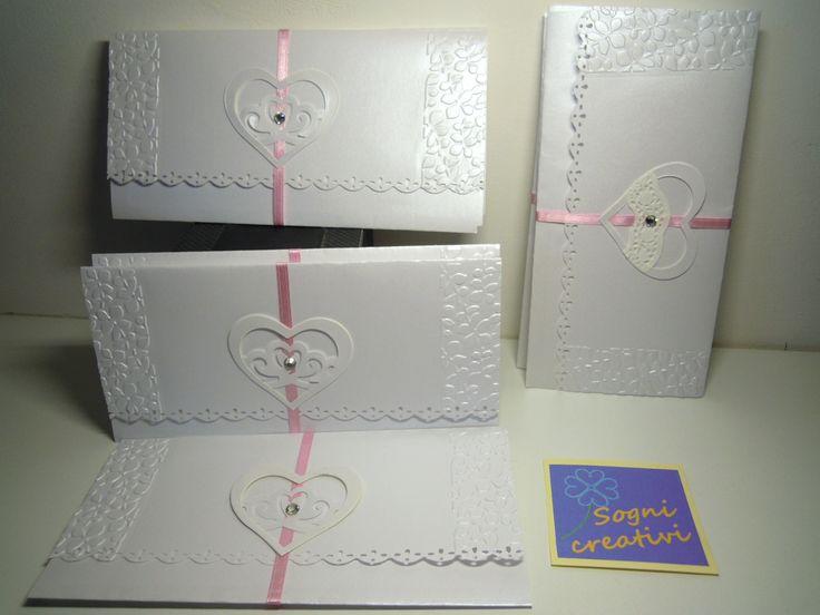 Partecipazioni matrimonio realizzate in carta perlescente