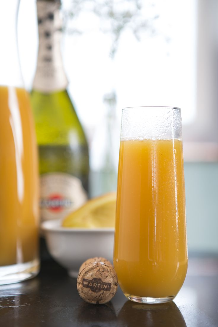 Top two parts peach puree with MARTINI® Prosecco for the perfect ...