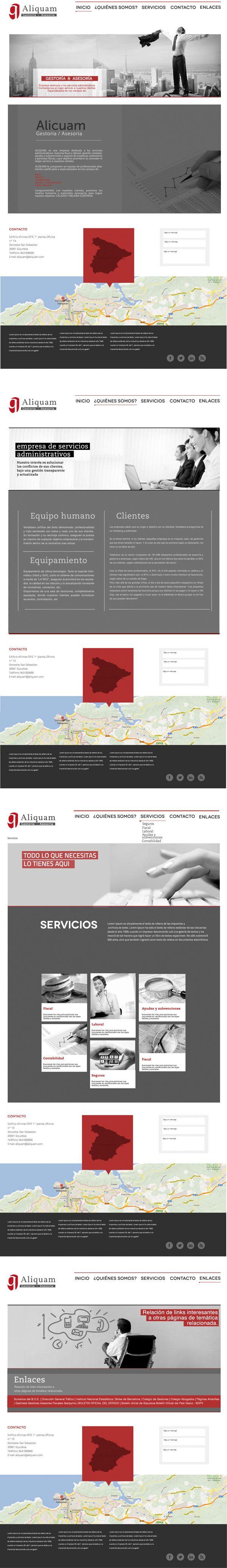 aliquam web design #web #design #gestoria #aliquam