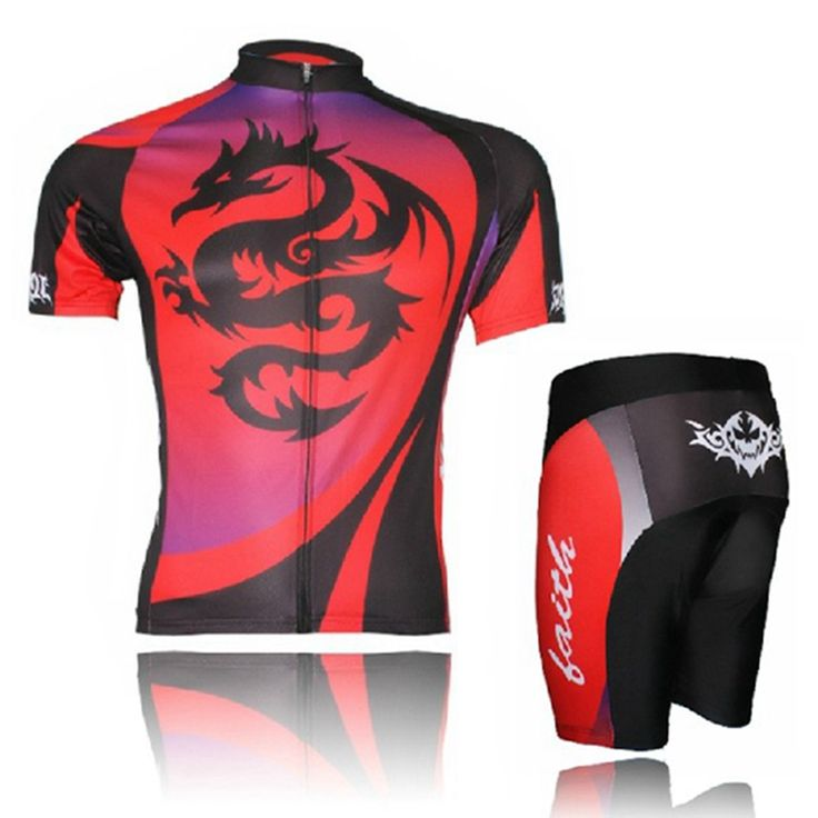 XINTOWN  New Men Team  Bike Jersey Shorts Sets Pro Cycling Clothing Suits ropa ciclismo Bicycle Top Red Dragon mtb Wear Shirts