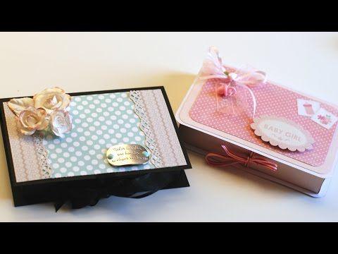 Scrapbooking: Caja para mini álbum - Mini Album Box - YouTube