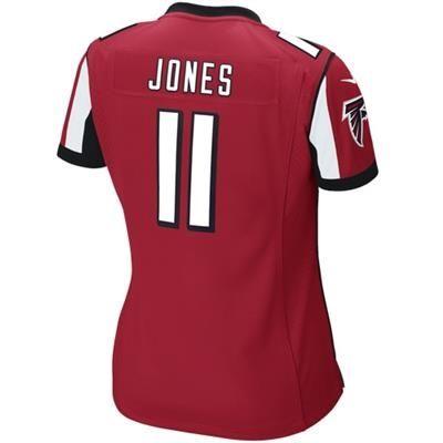 336d370678d ... NFL Jersey ATLANTA FALCONS WOMENS 11 JONES GAME JERSEY Custom Nike  Atlanta Falcons Jersey Customized Elite White Black ...