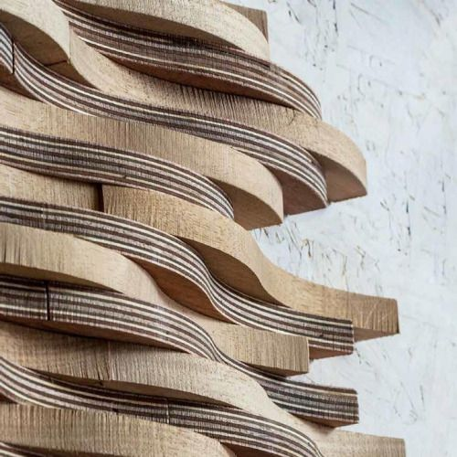Wooden Cladding Wavy ~ Archiproducts serros natura by mosarte http bit ly