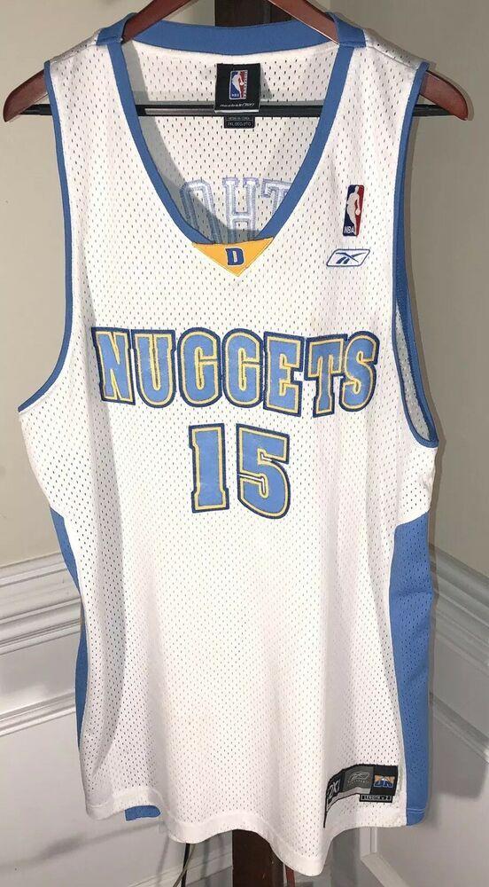 new product f2da5 a5c84 Vintage Carmelo Anthony #15 Denver Nuggets NBA Reebok Jersey ...