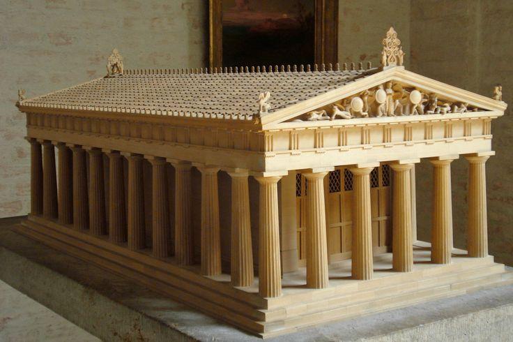Temple Aegina Greece Glyptothek Munich Architecture Of Greece