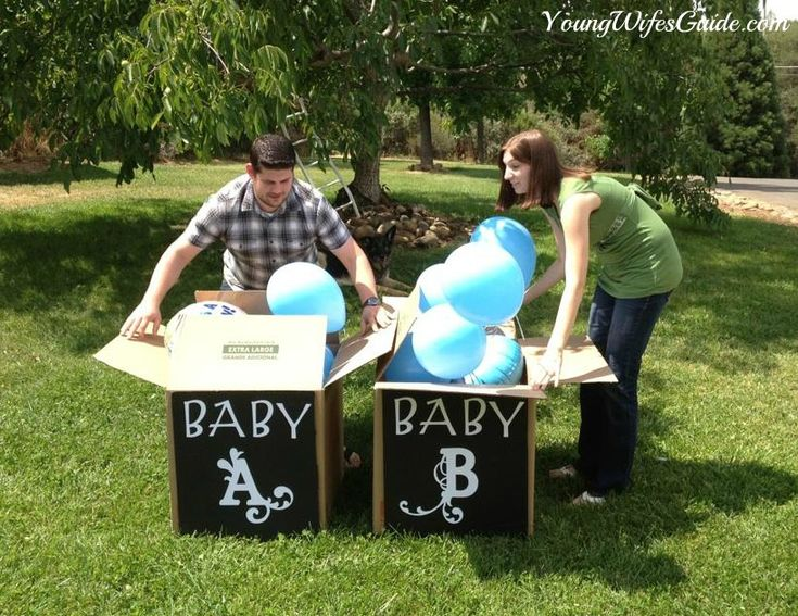 Twin Gender Reveal- Twin boys! So doing this if it's twins!
