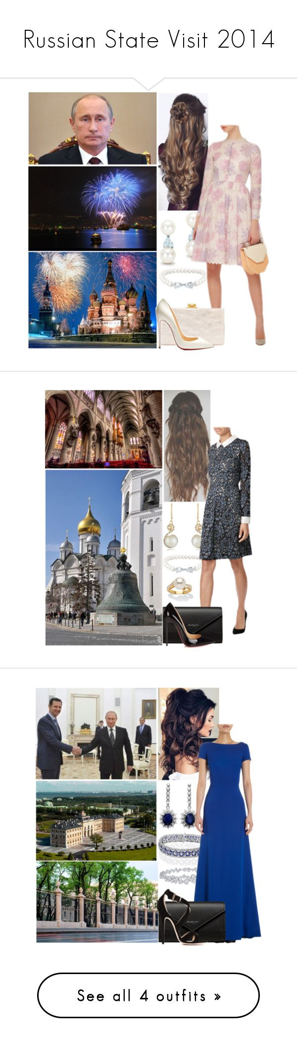 """""""Russian State Visit 2014"""" by alicewindsor ❤ liked on Polyvore featuring Tiffany & Co., Belk & Co., LUISA BECCARIA, Edie Parker, Christian Louboutin, Effy Jewelry, Steffen Schraut, Balenciaga, Palm Beach Jewelry and Harry Winston"""