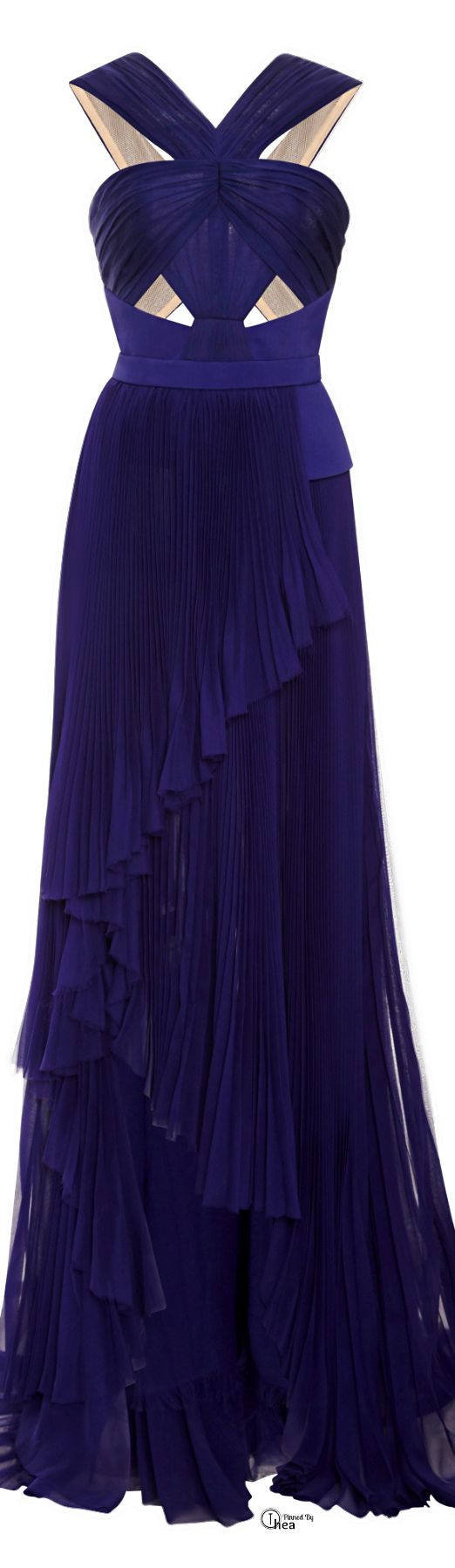 J. Mendel ● Fall 2014, Halter Gown--I'd put this on Kate Winslet...the style would be beautiful on her...