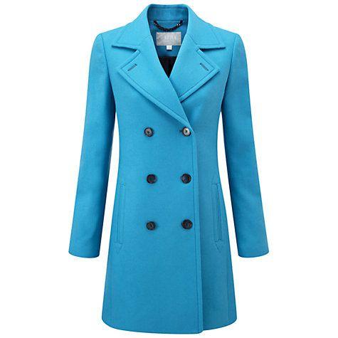 Buy Pure Collection Kensington Pea Coat, True Blue Online at johnlewis.com
