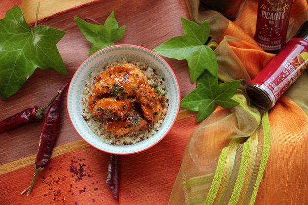 Hungarian Chicken Paprikash   / Pollo al Pimentón al estilo húngaro #concurso #contest #recipesrecetas #lachinatacom