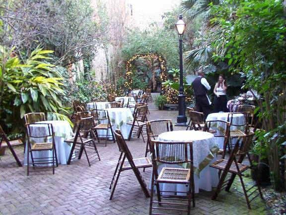 The Tropical Courtyard Provides An Opulent New Orleans Party Ambiance Heavy With Fragrant Jasmine Twinkling Lights A Wrought Iron Balcony And Bubbling