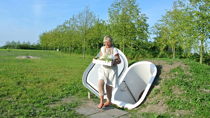 Ground Fridge by Floris Schoonderbeek. Nominated for the Dutch Design Awards 2015. Modern houses are often built without a basement. The Ground Fridge is an innovative version of the traditional root cellar. When buried and covered with the excavated earth the spherical Ground Fridge makes use of the insulating effect of the ground. The temperature in the fridge remains stable throughout the year between 10 and 12° C.