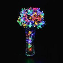 10 м 100 из светодиодов рождественские огни строки вишни цветы из светодиодов лампы фея огней для свадьбы ну вечеринку гирлянды наружной отделки(China (Mainland))