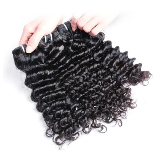 3Bundles high quality indian human hair deep wave raw indian mink hair