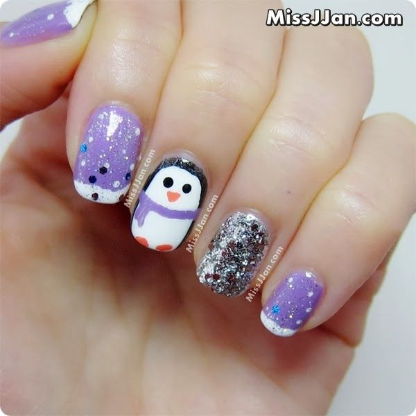 Christmas Nail Art Tutorial Gingerbread Galore: Best 25+ Penguin Nails Ideas On Pinterest