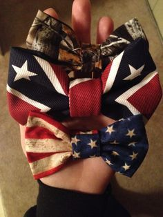 Country. Hair bows. Camo