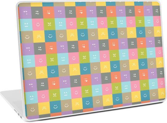 Emoji Emoticon Pattern Illustration by Gordon White   Emoji Macbook Laptop Skin Available @redbubble --------------------------- #redbubble #emoji #emoticon #smiley #faces #cute #addorable #pattern #laptop #skin #laptopskin #macbook