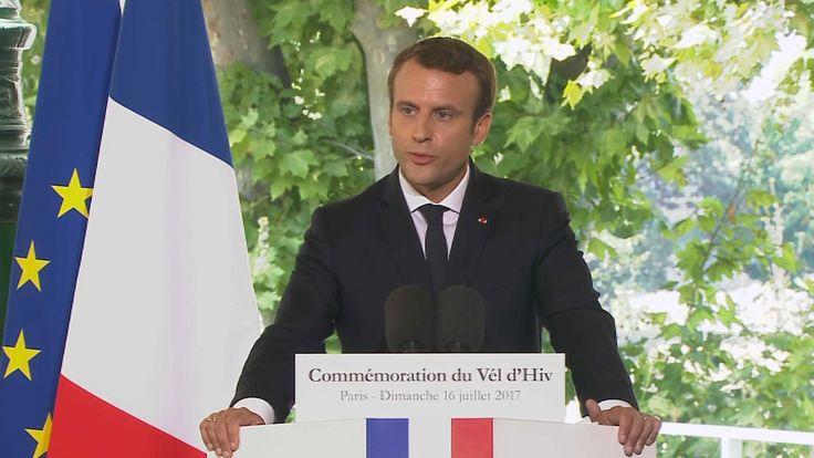 """Macron, ému en évoquant les enfants du Vél d'Hiv: """"La France ne les oublie pas"""""""