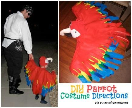 DIY Animal Costume : DIY Homemade Parrot Costume