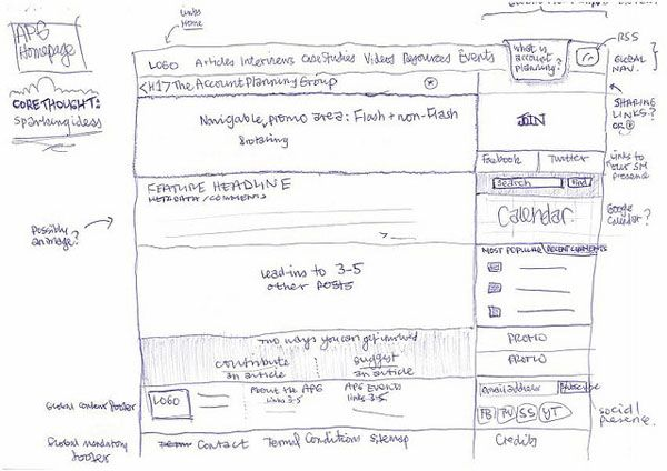 Web and Mobile Wireframe Sketches (18)
