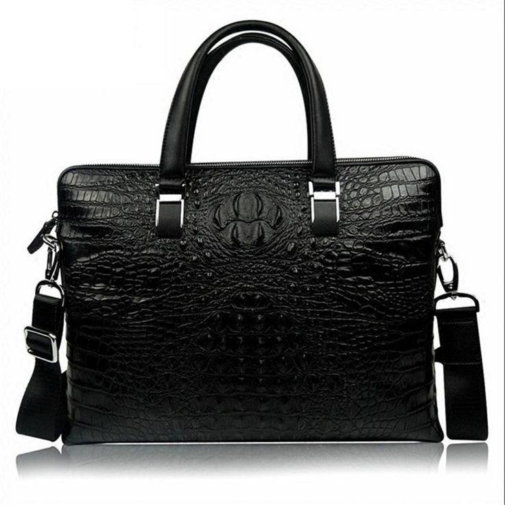 crocodile briefcase shoulder handbag tideG maleta laptop leather wenger mens office bags oxford portfolio  FREE SHIPPIN #Affiliate
