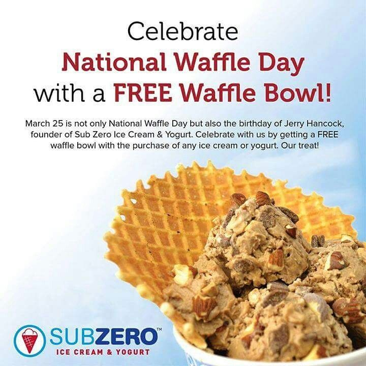 Every year on March 25th we do FREE Waffle Bowls for every ice cream!! Don't miss out!!
