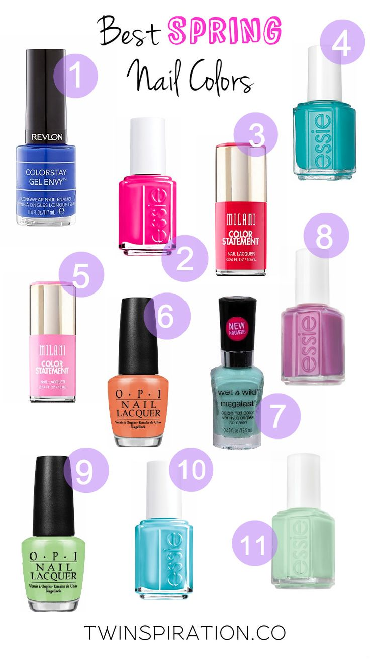 Best Spring Nail Color 2015: Essie, OPI, Wet n Wild, Milani & Revlon | Nail Polish Colors by Twinspiration at twinspiration.co.