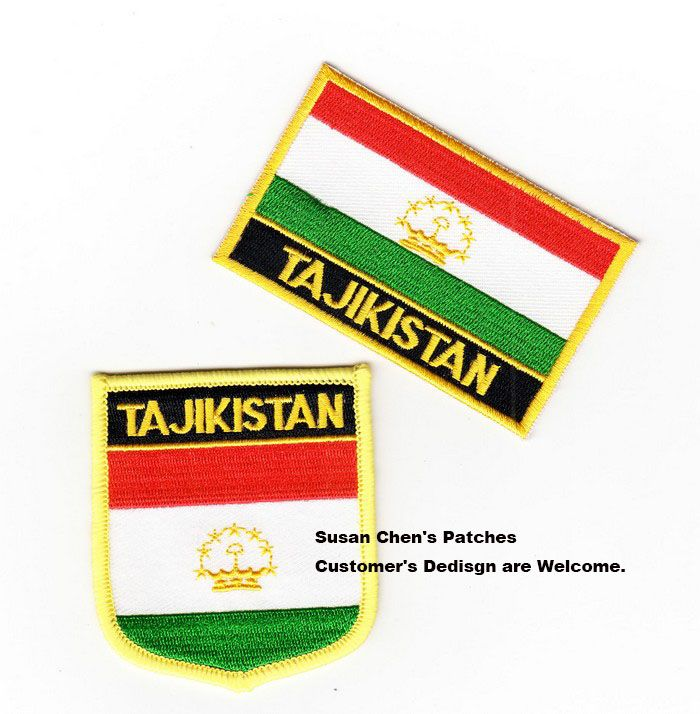 Tajikistan Flag patches embroidered flag patches national flag patches Free Shipping #Affiliate