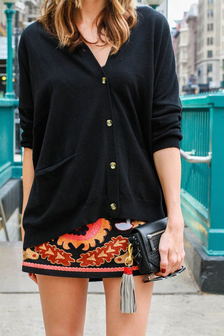 Louise Roe - How To Style A Mini Skirt - New York Street Style - Front Roe