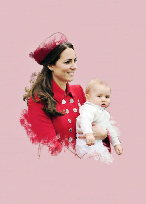 ♕ Her Royal Highness Kate Middleton (wife of Prince William) with their 1st son Prince George