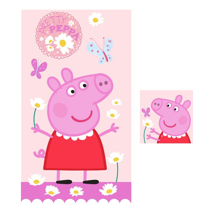 FRANCO MANUFACTURING CO 2-Piece Peppa Pig Kids Bath Set – Peppa's Playground, Multi