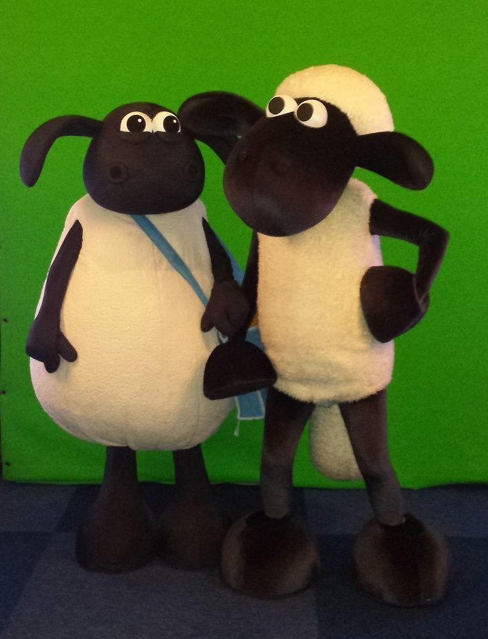 Shaun het Schaap en Timmy boekt u via http://www.looppoppen.nl/ShaunSchaap.html