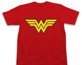 Pregunto mujer Logo camiseta roja - camisa de mujer maravilla - Wonder Woman - cómic camiseta superhéroe Marvel de camisa las camisas preguntan mujer Superman