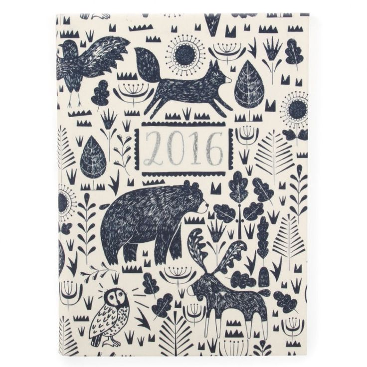Nordic Nights A5 day to view flexi linen 2016 diary - Nordic Nights - New for Winter