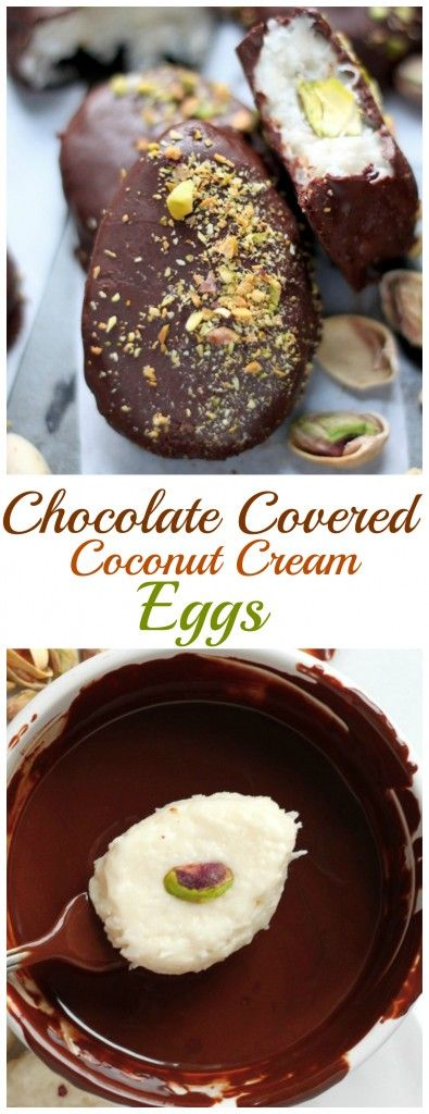 Homemade and SO easy! Chocolate Covered Coconut Cream Eggs
